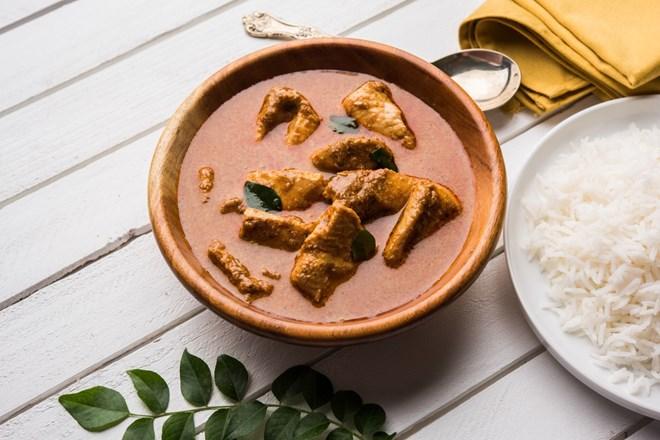 Kapří nebo lososí  curry na Štědrovečerní večeři