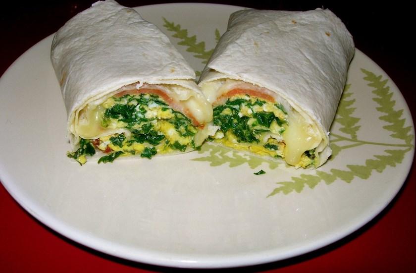 Snídaňové Burrito s vejci