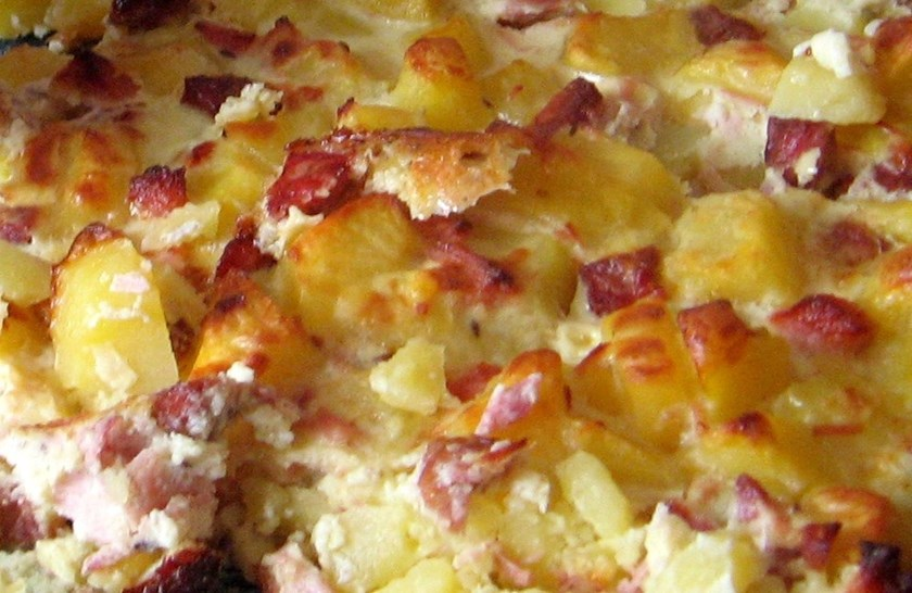 Zapečené brambory s Frýdečankou